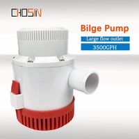 3500GPH Large Flow Dc 12v 24v Bilge Pump Electric Water Pump For Boats Accessories Marin Submersible Boat Water Pump 12 24 Volt