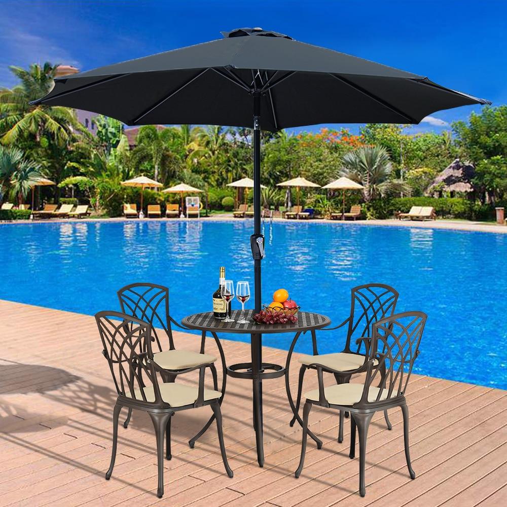 3M Metal Outdoor Sun Umbrella Patio Covers Garden Parasol Sunshade ( No Base ) Deluxe Octagon Sun Shading Umbrella