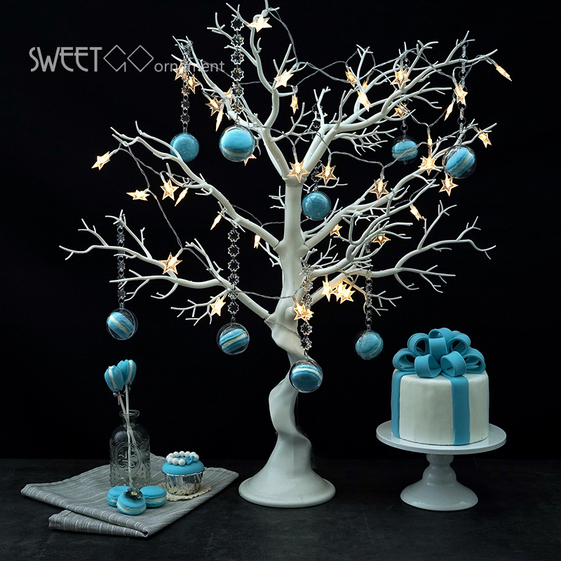 Wedding Decoration Tree White Resin Simulated Tree With Macrons Pendants For Candy Bar shop Window Display
