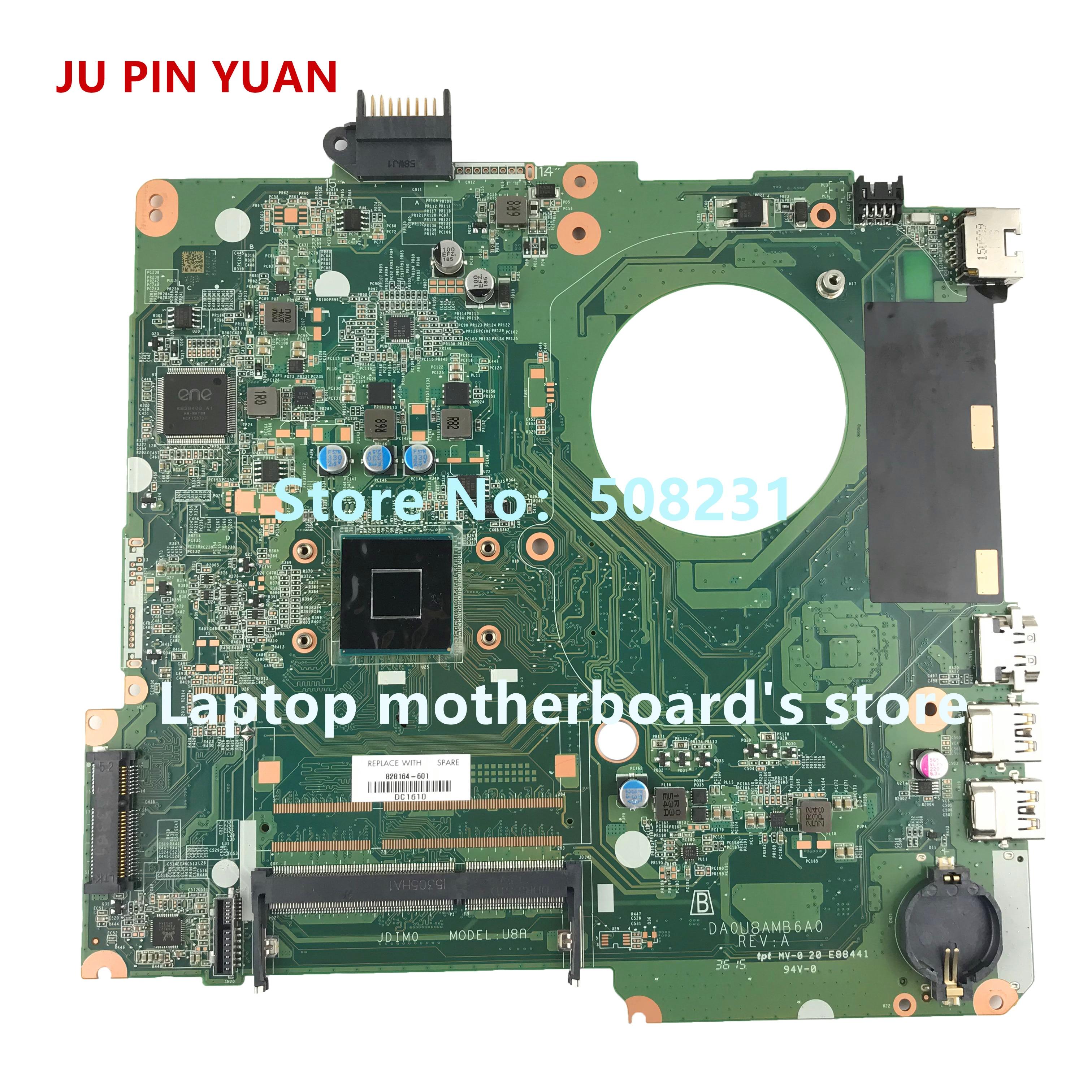 JU PIN YUAN 828164-601 828164-001 DA0U8AMB6A0 mainboard for HP Pavilion 15-F 15-F289NR Laptop motherboard CelN2840 fully TestedJU PIN YUAN 828164-601 828164-001 DA0U8AMB6A0 mainboard for HP Pavilion 15-F 15-F289NR Laptop motherboard CelN2840 fully Tested