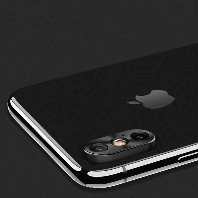 competitive price 98fb3 2c48f Lovebay Camera Len Film Screen Protector For Iphone X XR XS Max 8 7 Plus  Metal Mobile Phone Ring Rear Lens Protective Cover