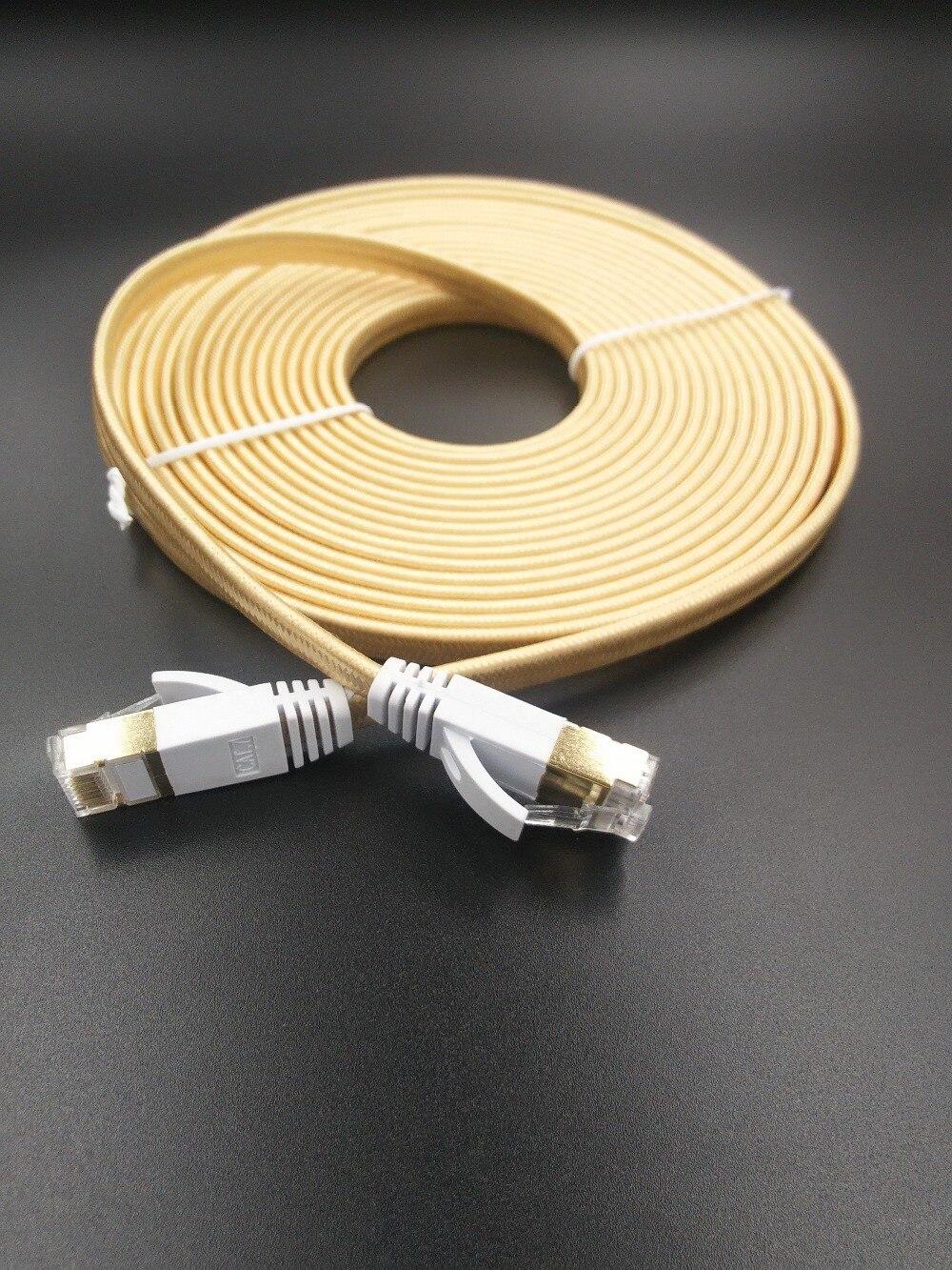 /charge Oder Farbe 0.5m1m1.5m2m 3 M, 5 M Kabel Rj45 Patch Ethernet Lan 10mcat7 Flache Kabel Router Switch Netzwerk Für Gold Überzogene