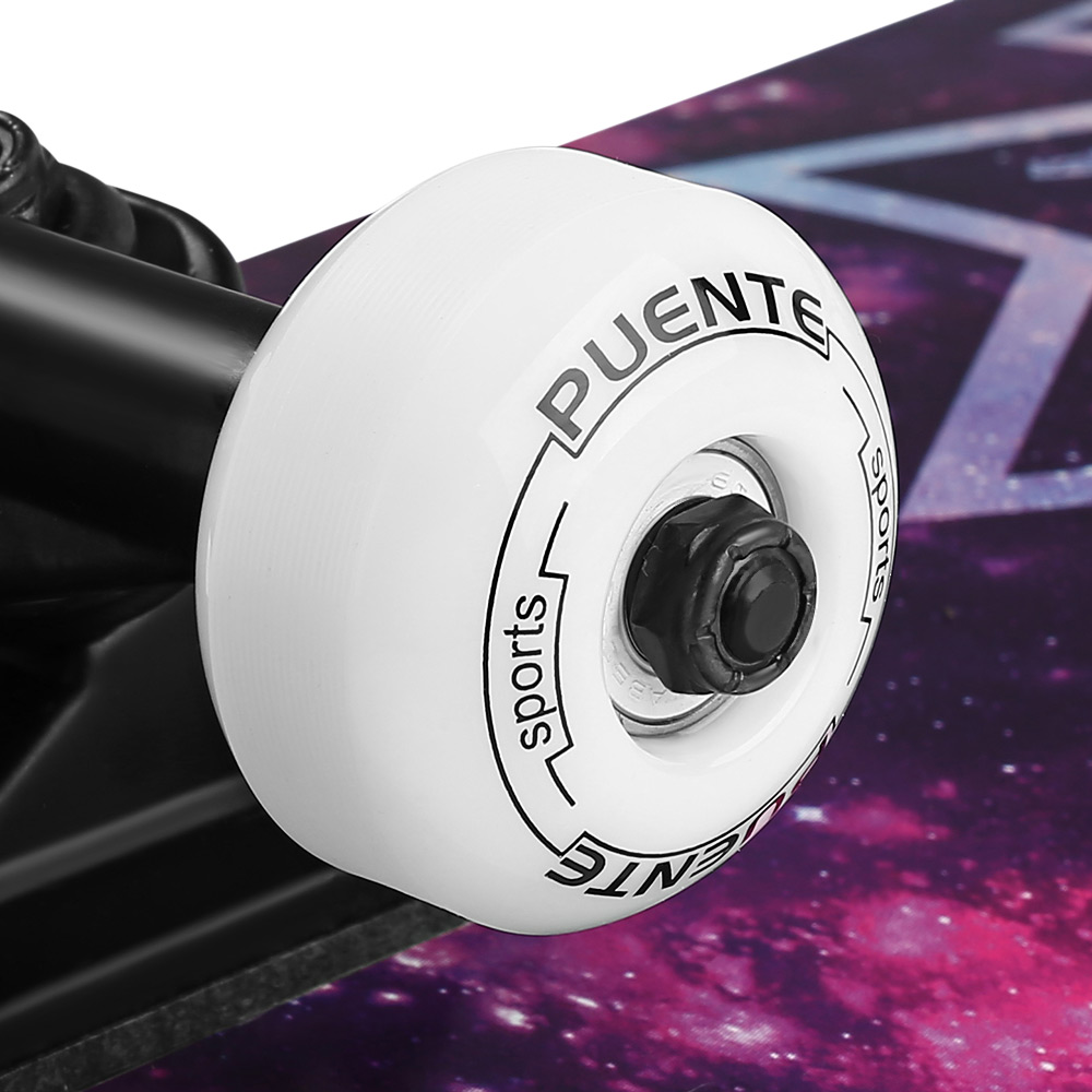 PUENTE Vier rad Doppel Lange Bord Skate Board mit vier rädern Skateboard 3 Farben - 5