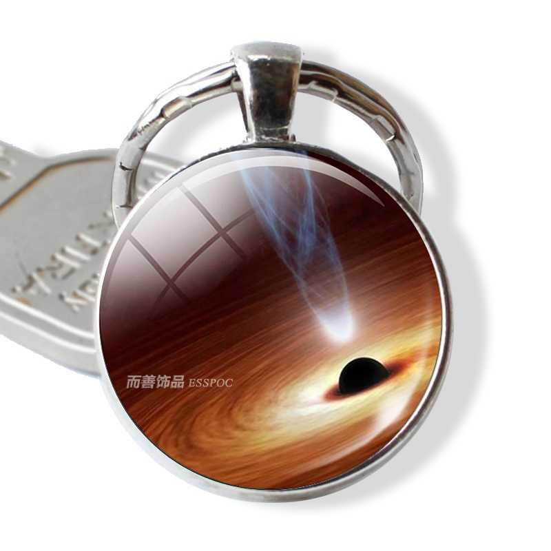Vũ trụ Hành Tinh Tinh Vân Ảnh Nghệ Thuật Glass Cabochon Keychain Năng Lượng Mặt Trời Hệ Thống Đồ Trang Sức Mặt Dây Chuyền Thời Trang Móc Chìa Khóa Vòng Chìa Khóa cho Nam Giới