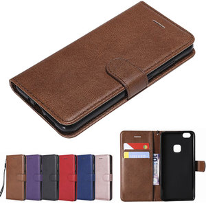 For Huawei,P10,Case,Cover,Lite,Luxury,Magnetic,Flip,Wallet,Plain,Vintage,Phone,Leather,Bags,P,10,p10lite(China)