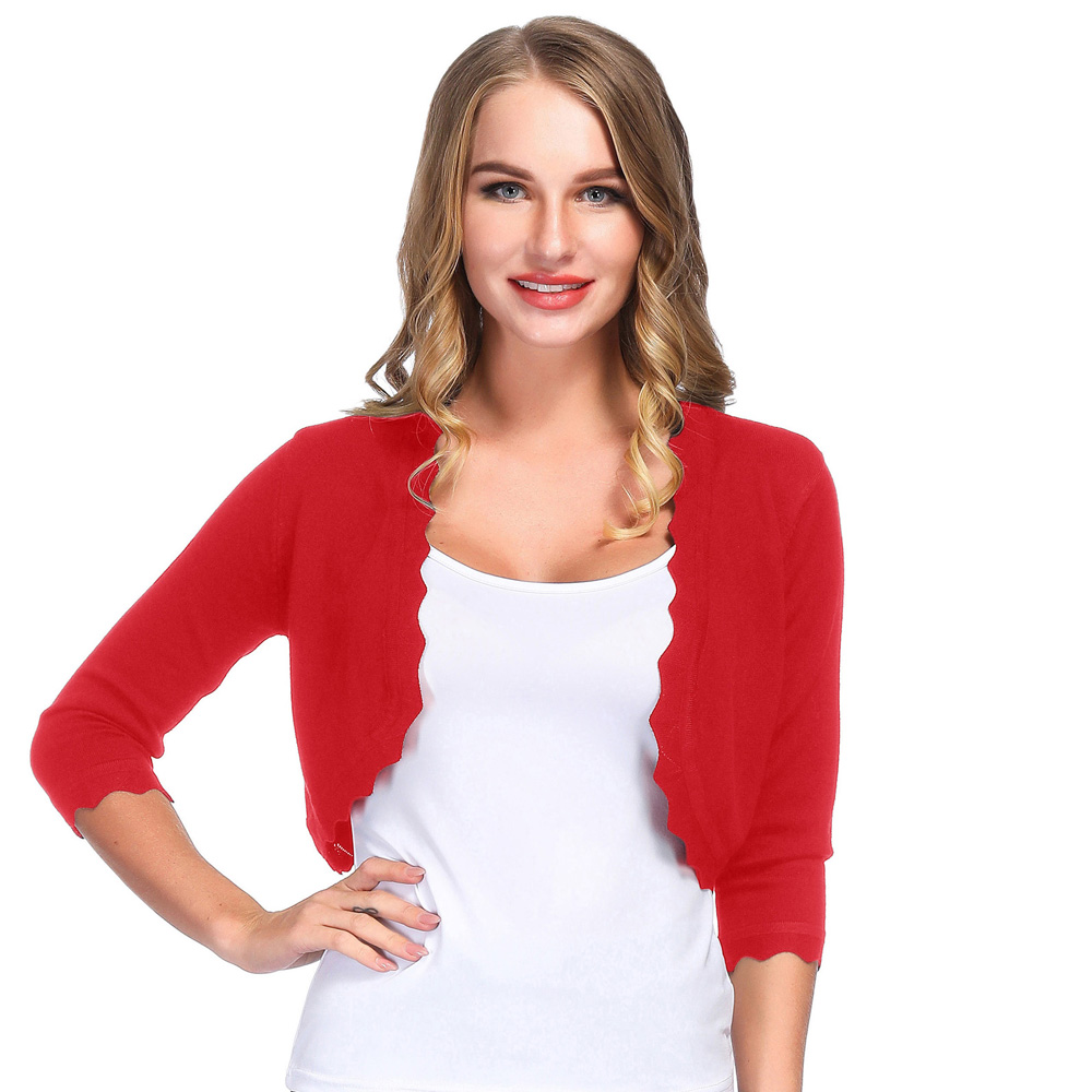 Ladies Womens Girls Crochet Knitted Bolero Crop Shrug Summer Cardigan Dress Top