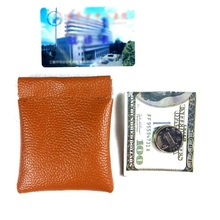 Unisex Small Mini Coin Purses Short Wallet Bag Money Change Credit Card Holder Men Women  Leather PU Coin Purse Solid Color