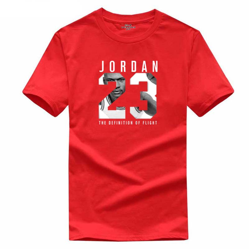 New Brand Hot Sale New Tee Jordan 23 Print Men Swag T-Shirt Top Quality Cotton Jordan 23 Hip Hop Short Sleeve T Shirt Men(China)