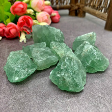 Natural green strawberry crystal stone original ore decoration