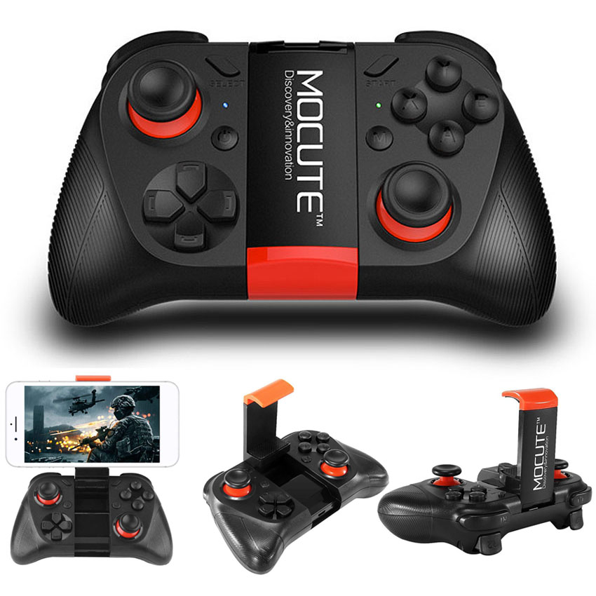 MOCUTE Bluetooth Wireless Game Controller Gamepad Joystick for Android Phone PC Smart TV VR Game Pad+ Holder