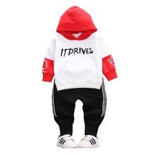 Spring Autumn Toddler Cotton Children Baby Girls Boys Clothes Sport Hooded T Shirt Pants 2pcs/Sets Infant Casual Kids Tracksuits цена