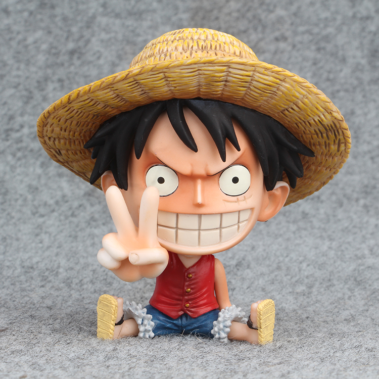 Learned One Piece Pvc Action Figure Monkey D Toys & Hobbies Luffy Sit Model Toy Fiigure 10cm