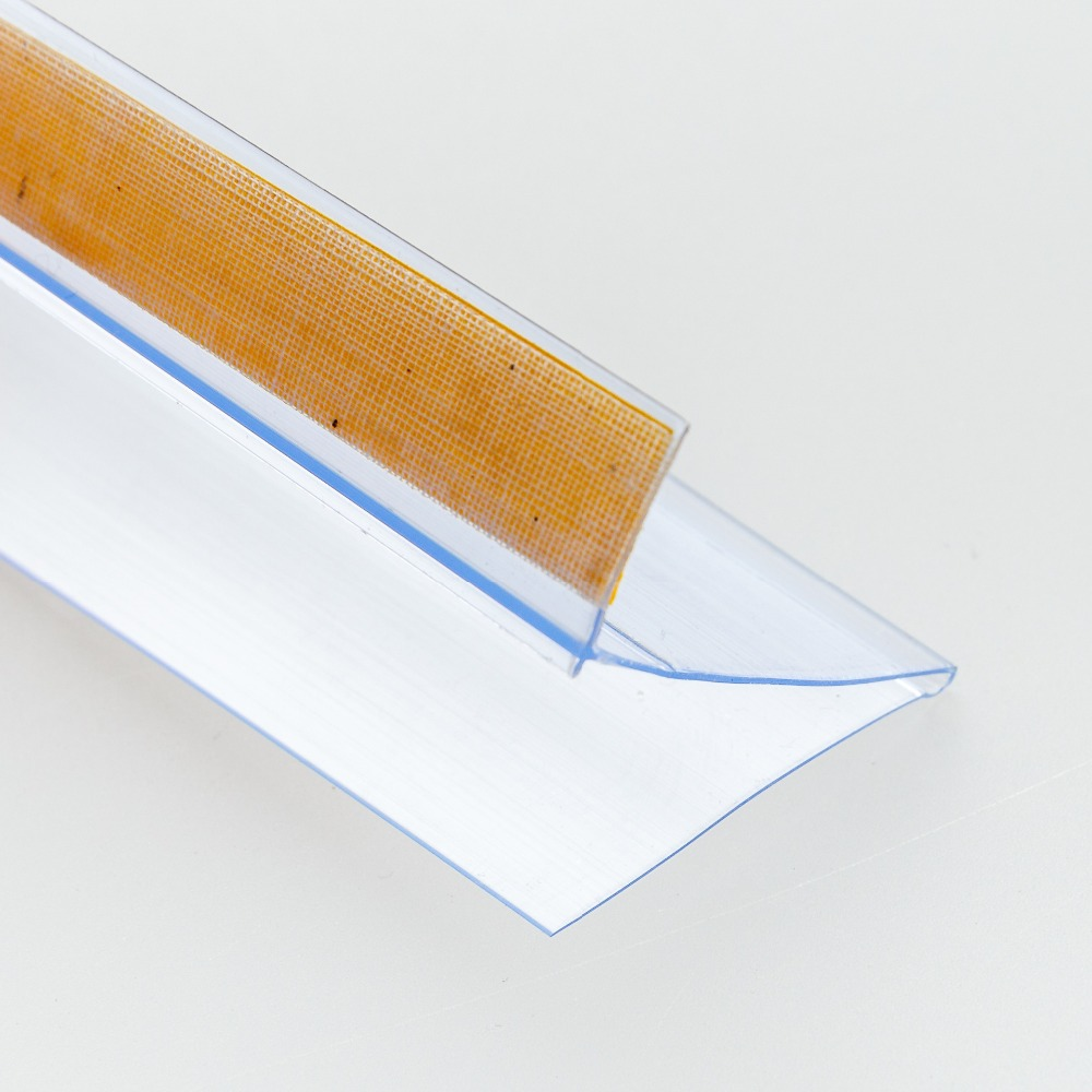 L Shap Label Holder Strip Adhesive Sign Clip Shelf Talker Edge Card Cover Pop Advertising Banner Price Tag Display Data Strip