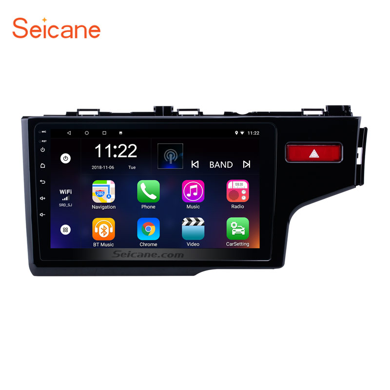 Seicane 2Din Android 6.0/7.1/8.1 10.1 Car Radio GPS Navi Multimedia Player Touchscreen Head Unit For 2014 2015 HONDA JAZZ/FITSeicane 2Din Android 6.0/7.1/8.1 10.1 Car Radio GPS Navi Multimedia Player Touchscreen Head Unit For 2014 2015 HONDA JAZZ/FIT