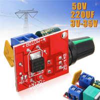 Hohe Qualität Mini DC Motor Speed Controller 3-35V 12V 24V PWM Motor Speed Control Module einstellbare Schalter LED Fan Dimmer