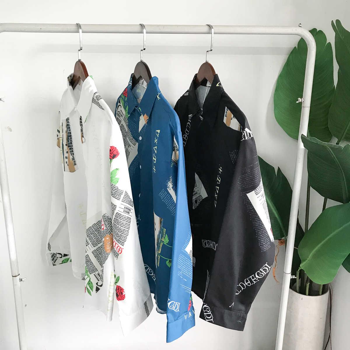 2019 весенняя одежда новая модель Мужская Джокер досуг Время Мужчины Гавайское Платье рубашка для студента повседневные мужские рубашки slim fit
