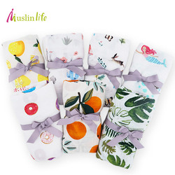 Muslinlife 2018 New Infant Baby Blanket,Newborn baby muslin blanket Swaddle Bamboo Cotton,Soft Baby Bath Towel Swaddle Blankets
