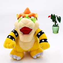 Anime Super Mario Bros Standing Bowser Koopa Peluche Doll Plush Soft Stuffed Baby Toy Great Christmas Gift For Children 2018 new arrival anime super mario bros standing mario peluche doll plush soft stuffed baby toy great christmas gift for kids