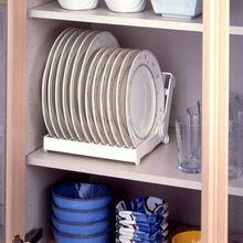 Органайзер для кухни, Складная Сушилка для посуды Кухня тарелка-органайзер крылом пластиковый держатель для хранения сушилка для посуды органайзер для кладовки