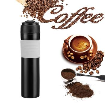 Coffee Filter Bottle Coffee Tea Maker Portable French Pressed Coffee Bottle Hand Pressure Coffee Machine For Car Office 350ml