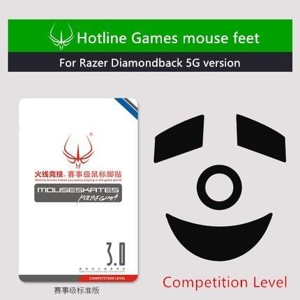 New Arrival 1 Pack Hotline Games Competition Level Mouse Skates Mouse Feet For Razer Diamondback 5G Version Teflon Mouse Glide