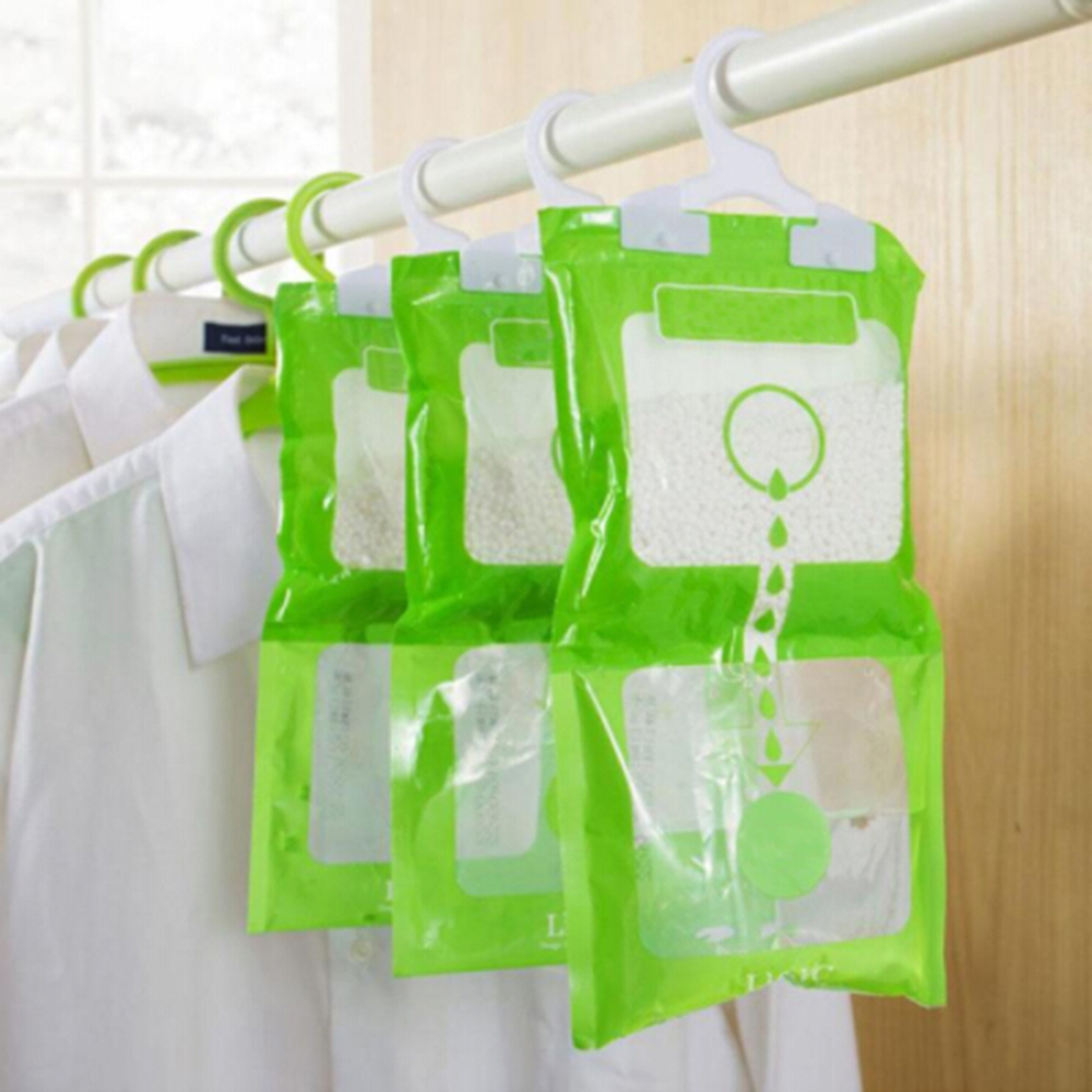 Newest Moisture Absorbent Bag Wardrobe Dehumidifier Bags Desiccant Packets  Home Cleaning Tools For 2019