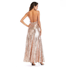 MUXU sexy women gold sequin backless party glitter dresses vestido long clothes elegant autumn plus size robe femme