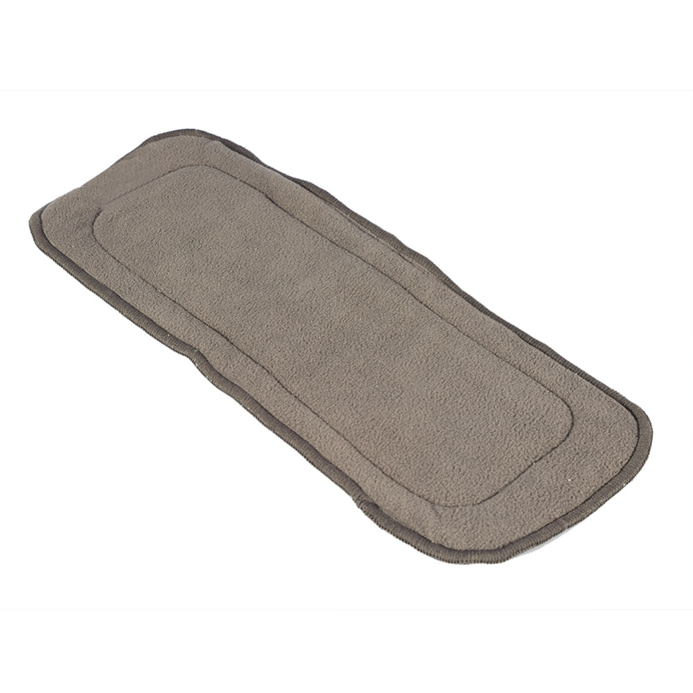 1PCs 35 x 13cm Washable Diaper Insert 4Layers Bamboo Charcoal Cloth Adult Baby Soft Nappr Liner