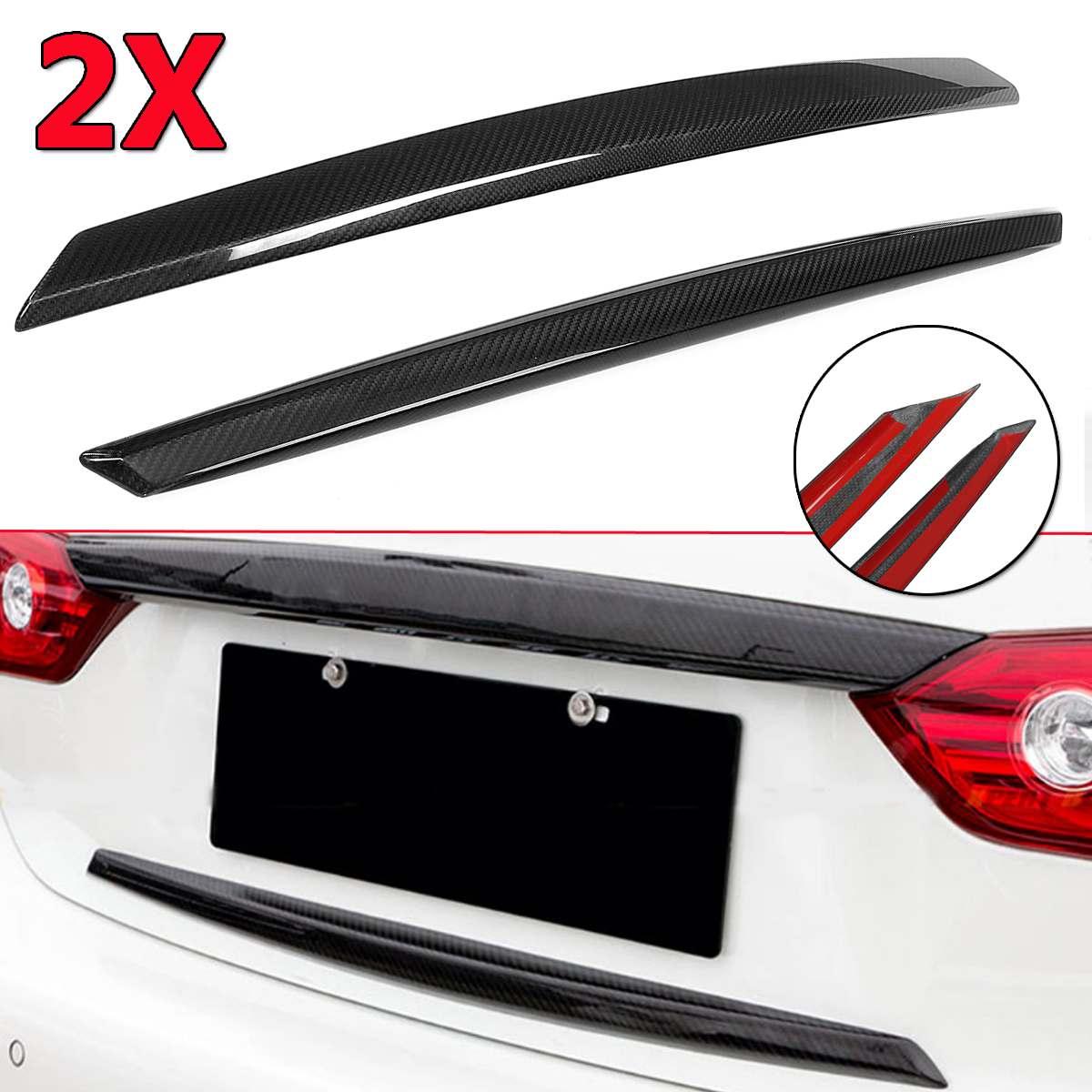 For 2014-17 Infiniti Q50 Carbon Fiber Rear Bumper Side Corner Splitters Aprons