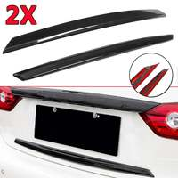 1 Pair Rear Trunk Plate Trim Cover For Infiniti Q50 2014 17 S Real Carbon Fiber Rear Car Styling Sticker Trunk Wing Trim Covers