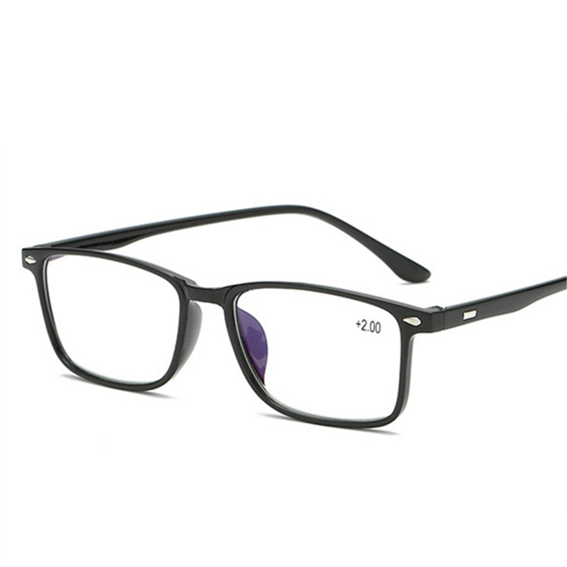 Blue Film Reading Glasses Men Women TR90 Glasses 1.5 Presbyopia Rectangular Eyeglasses Light Presbyopic Retro Glasses +2.0 2.5  1