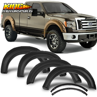 Fits 09 14 Ford F150 Pocket Rivet Style Fender Flares Wheel Cover Protector 4PCS PP