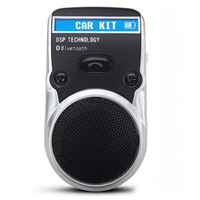 Powered LCD Speaker Solar Bluetooth Wireless Handsfree Car Kit For Mobile phone