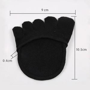 Image 5 - Plantillas medias de algodón, almohadillas para el cuidado de los pies, alivio del dolor en antepié, Gel de masaje para metatarso, almohadillas de soporte para los dedos del pie, plantillas para antepié, 1 par