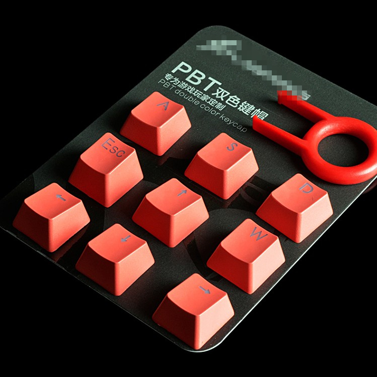 9 Keys/pack PBT Double Color Injection Key Caps Mechanical Keyboard Backlit Keycaps ESC WASD And Direction Keys