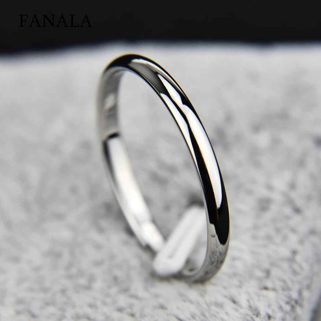 Silver Band Gift Round Fashion Club Outdoor Party 18mm Street Casual Gold Ring Wedding Women Jewelry