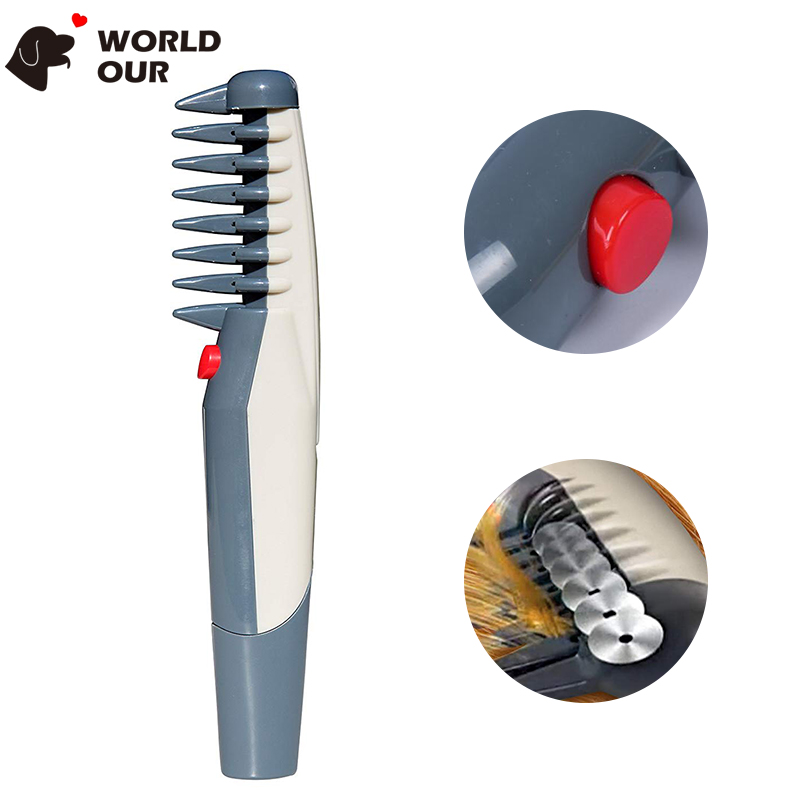 Electric Dog Brush Automatic Tools Dog Grooming Shedding Comb For Dogs Trimming Brush Removes Pet Hairs