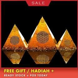 AURAREIKI оргонит Пирамида натуральный цитрин энергии генератор пирамиды транзитный сбор Фортуна помощь деловое украшение подарок