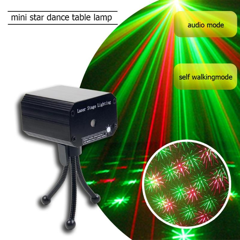 Mini Laser Projector Stage Light Voice-activated Car KTV Party Light Disco Light Club Dancing Party LightS Stage Effect Lighting