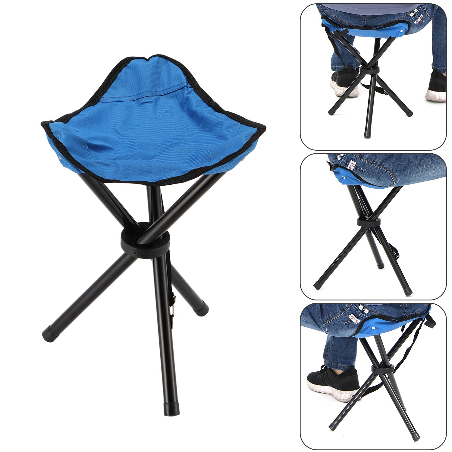 New Portable Tripod Stool Folding Chair With Carrying Case