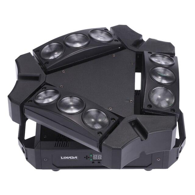 Party Disco KTV 90 W 9LED RGBW kolor DMX512 kontrola dźwięku 16/48 kanałowy Mini trójkąt lampa pająk Beam etap światło dla klubu