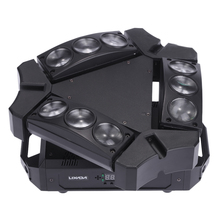 Party Disco KTV 90W 9LED RGBW Full Color DMX512 Sound Control 16/48 Channel Mini Triangle Spider Lamp Beam Stage Light for Club