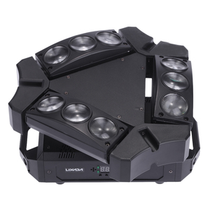 Image 1 - 파티 디스코 ktv 90 w 9led rgbw 풀 컬러 dmx512 사운드 컨트롤 16/48 채널 미니 삼각형 스파이더 램프 빔 무대 조명 클럽