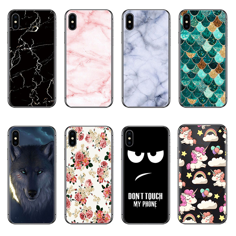 Shockproof Phone Case For Doogee X50 X55 X70 X60L Silicone Soft Case Art Painted image
