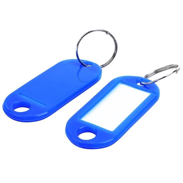 Key Ring Tags(100pcs Blue)