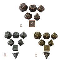 7 шт./компл. креативные игральные кости РПГ D & D металлические кости набор для Подземелья и Драконы инновационный металл игральные кости набо...
