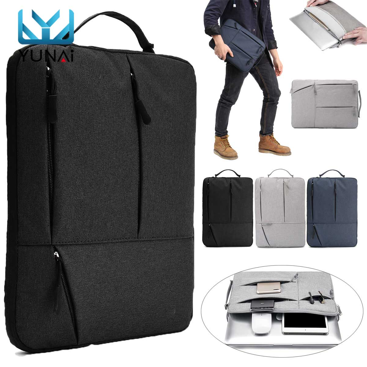 Oxford Fabric Laptop Bag For Macbook Air Pro Retina 11 12 13 Inch Laptop Sleeve Case PC Tablet Case Cover For Xiaomi Air For HP