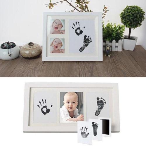 Hot Baby Souvenir Paw Print Pad Photo Frame Pad Inkless Wipe Baby Kit-Hand Foot Print Keepsake Newborn Footprint Handprint