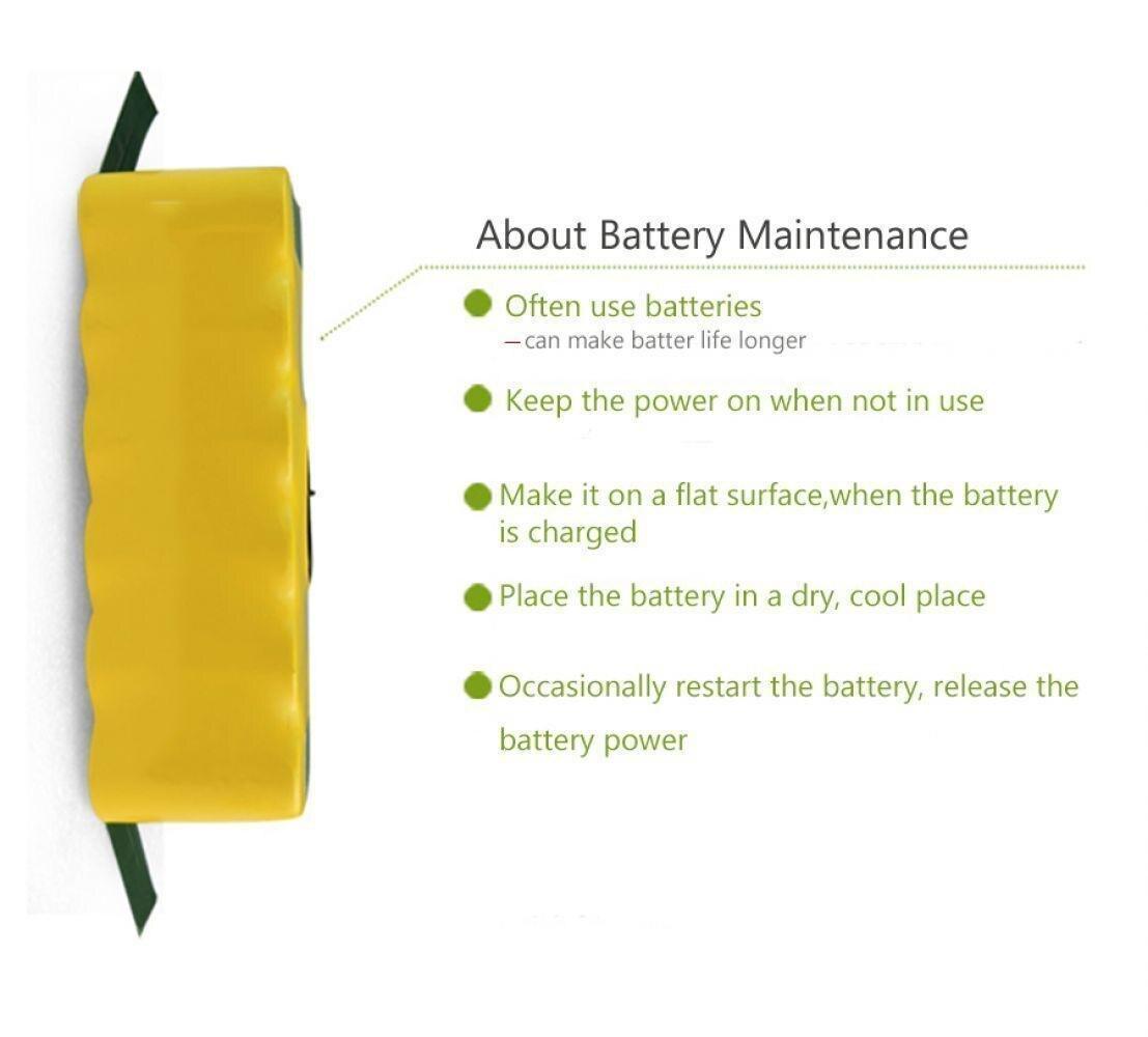 8000mAh High Capacity 14 4V Battery For iRobot Roomba