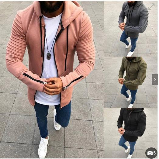 652c7b32bfcf 2018 AliExpress Wish Amazon EBay Explosion Models 4 Color 8 Code Crimp  Long-Sleeve Hooded Men s Sweatshirts